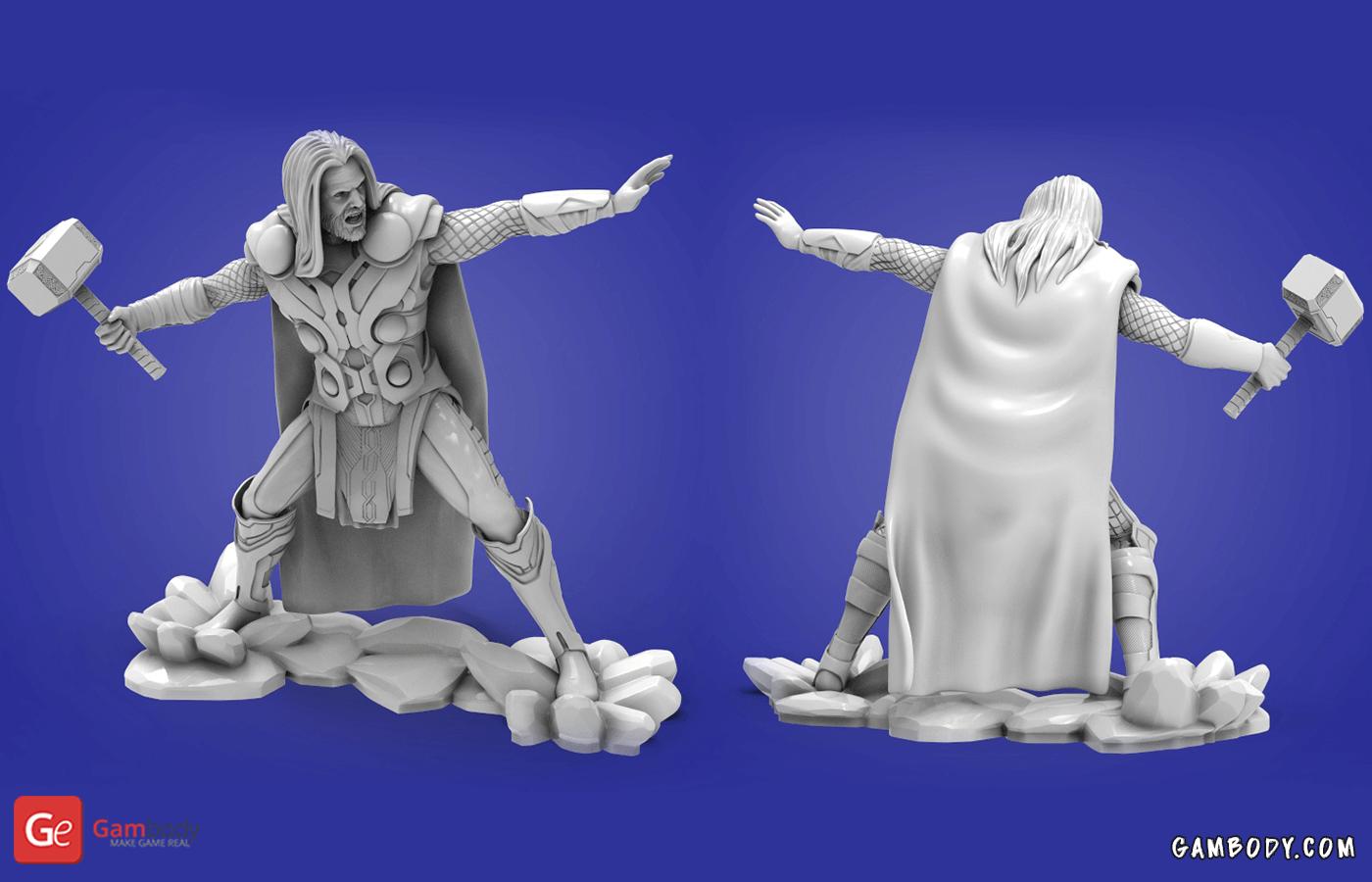 Thor 3D Printing Figurine