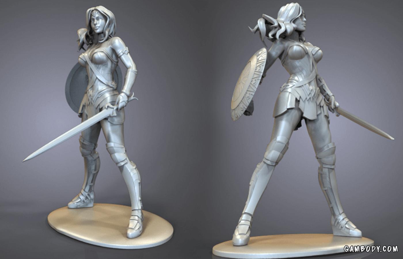 Wonder Woman 3D Printing Figurine