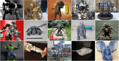 2017 Year End Review – 3D Printing & 3D Printed Miniatures