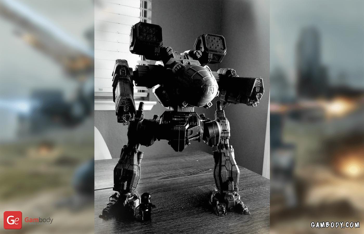 Mad Cat 3D Printing Model