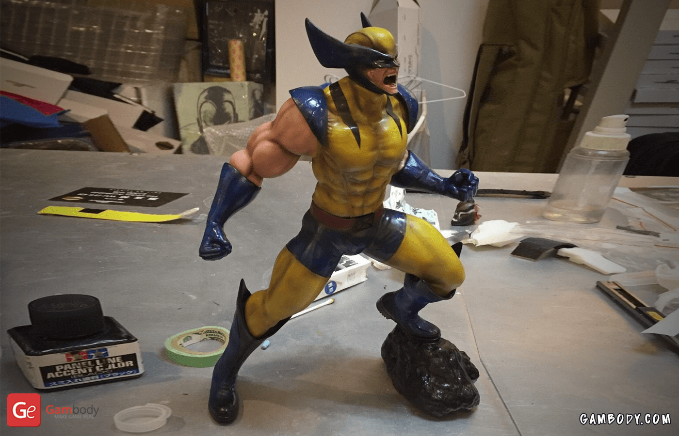 Wolverine 3D Printing Figurine Photo 3
