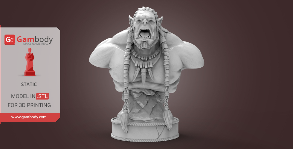 Durotan Bust for 3D printing