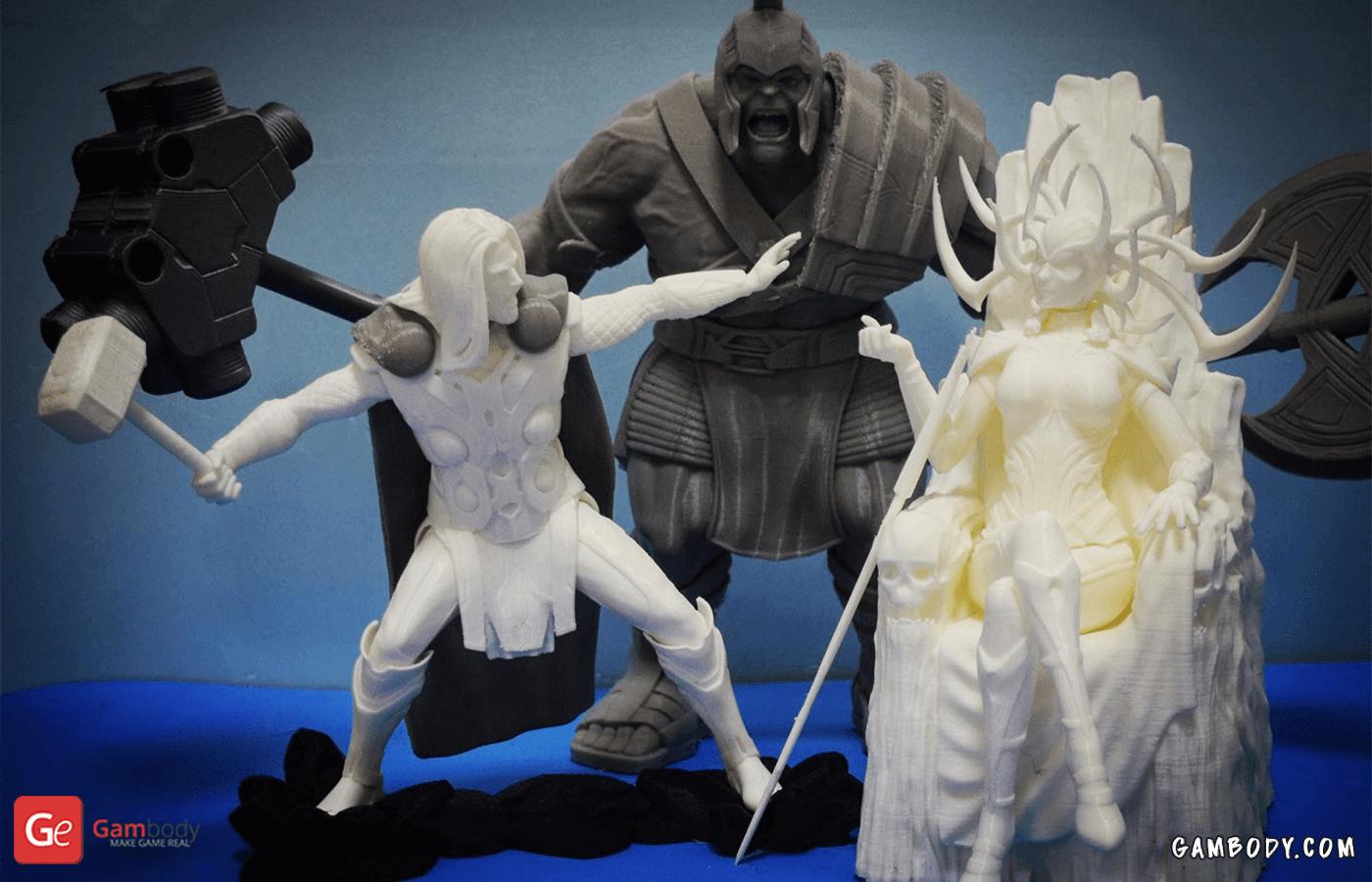 Hulk, Hela, Thor 3D Printing Figurines