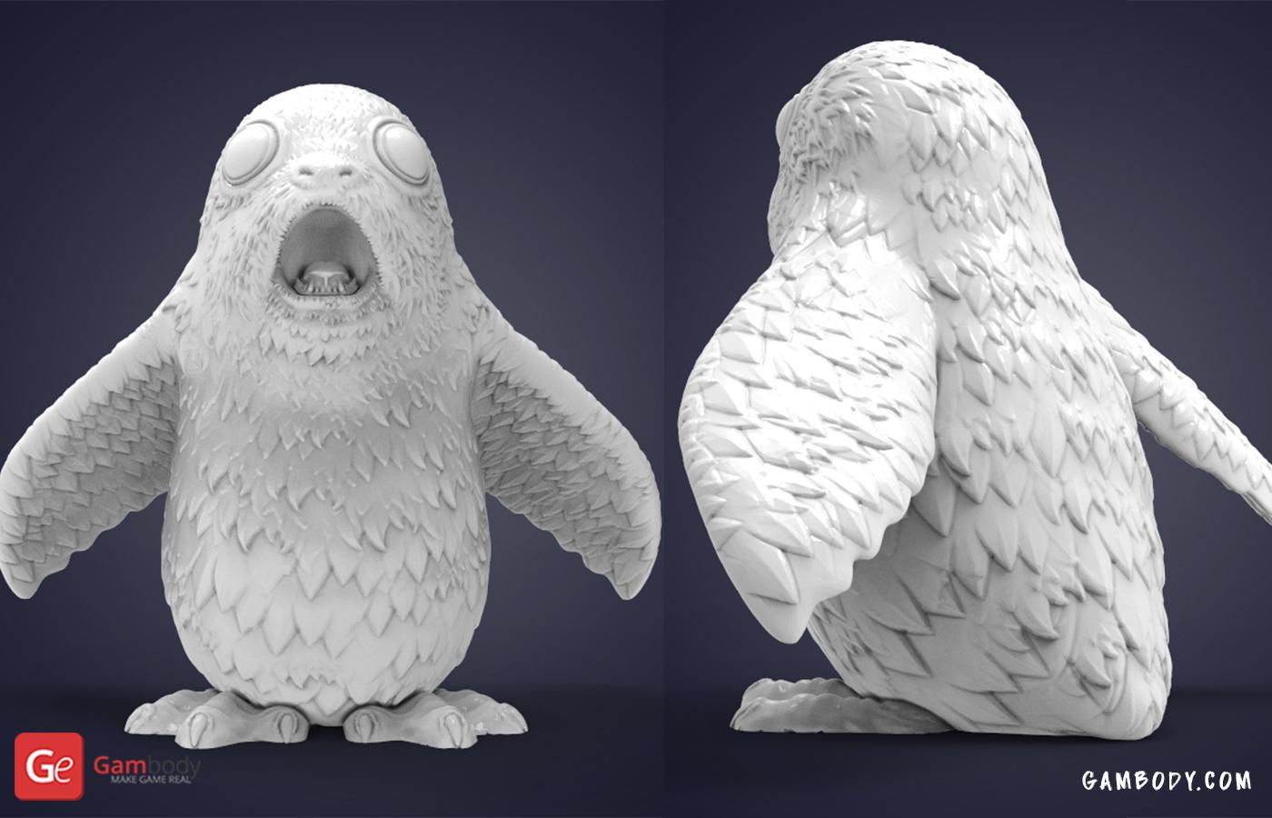 Impressed Porg 3D Printing Figurine