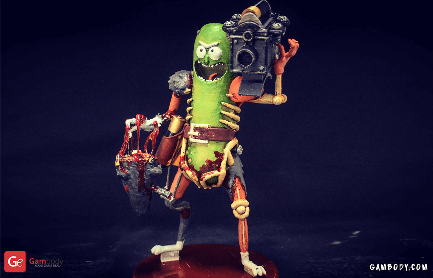 Pickle Rick 3D Printing Figurine