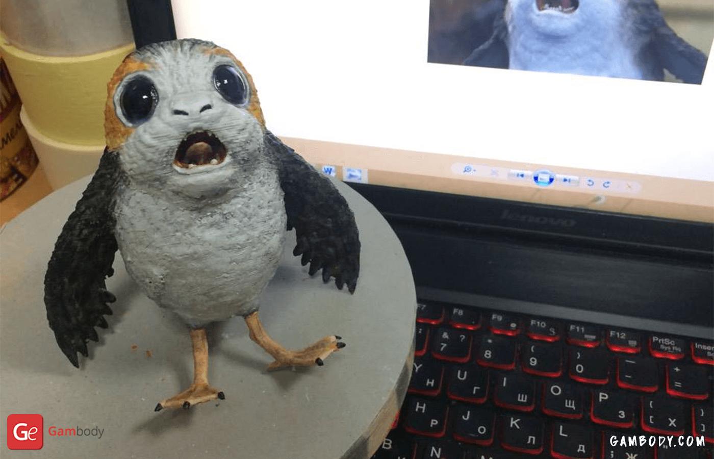 Porg 3D Printing Figurine Photo 2
