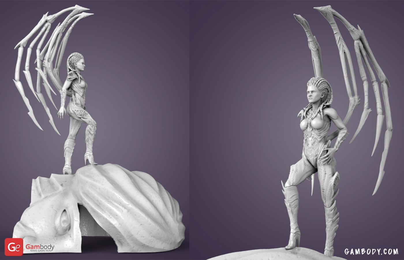 Queen of Blade 3D Printing Figurine