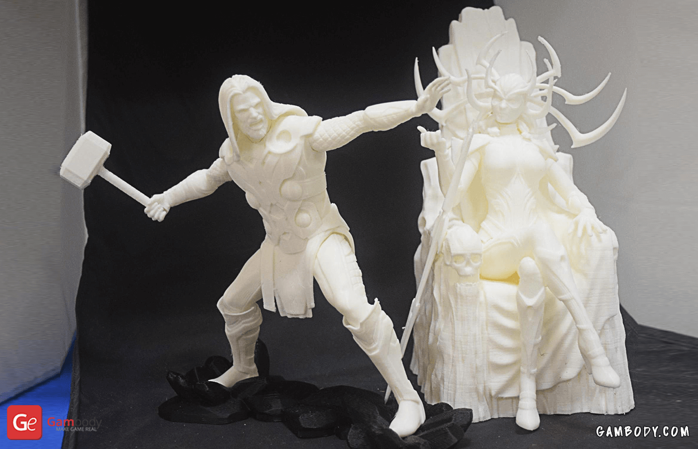 Hela, Thor 3D Printing Figurines Photo 2