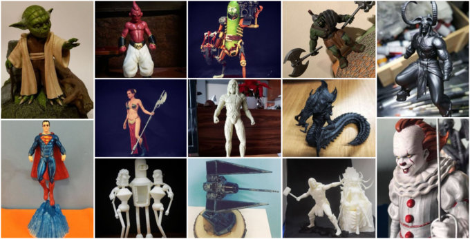 Jan' 3D Printed Figurines Pick of the Month