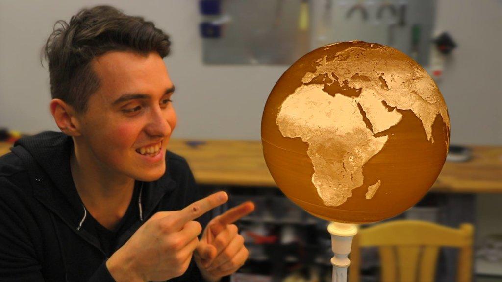 3d printed globe