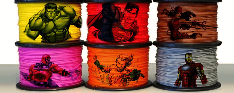 3D Printing Material as Superhero