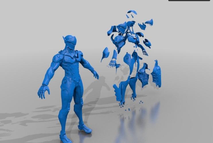 overwatch genji 3d printing cosplay suit