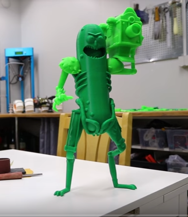 Pickle Rick 3D printed figurine