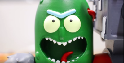 RCLifeOn Reviews Gambody's Pickle Rick 3D Print Figurine and Talks 3D Printing in General