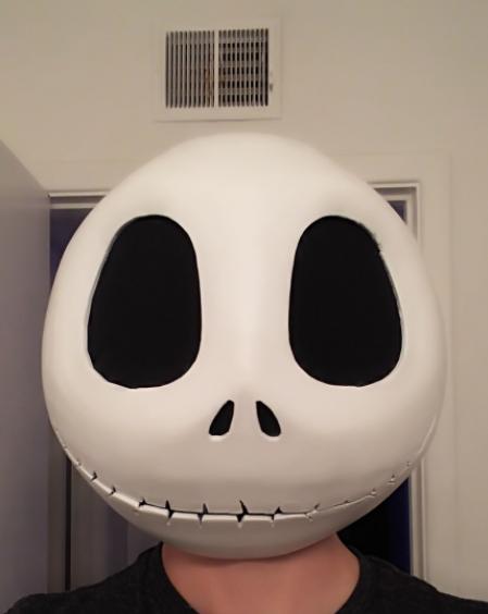 skellington head 3d printing cosplay