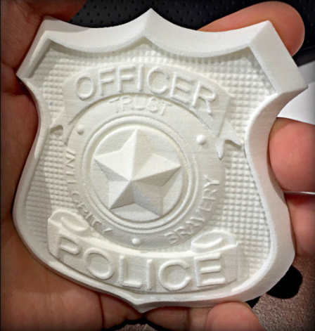 polica badge 3d printing cosplay