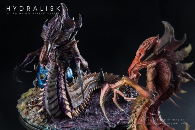 MAKER IN THE SPOTLIGHT: HERB 3D PRINTS AND PAINTS STARCRAFT HYDRALISK FIGURINE