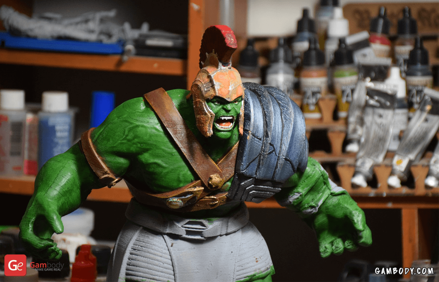 Armored Hulk 3D Printing Figurine Photo 2