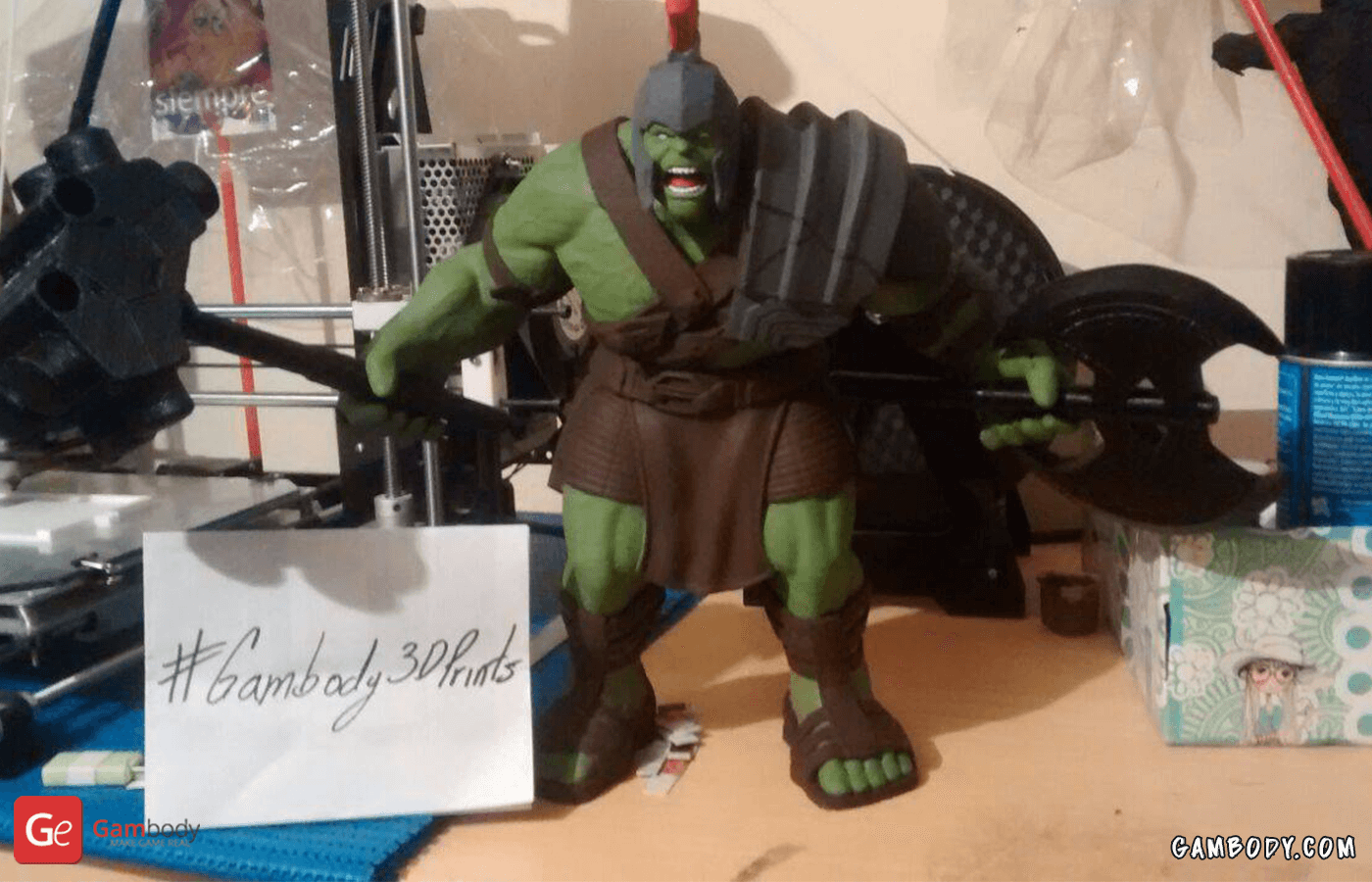 Hulk 3D Printing Figurine Photo 2