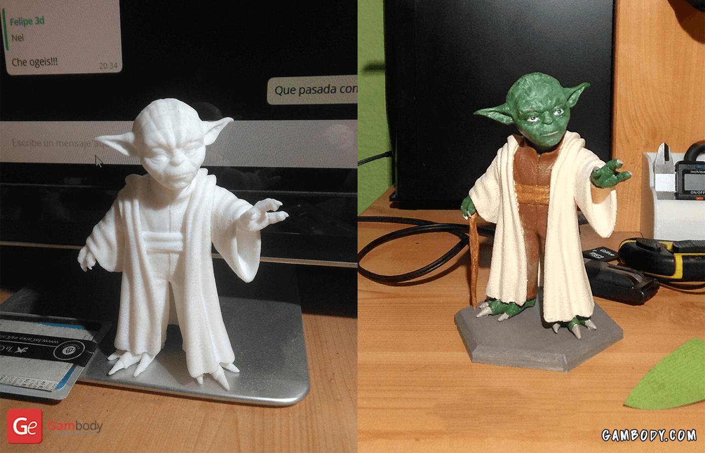 Yoda 3D Printing Figurine Photo 2