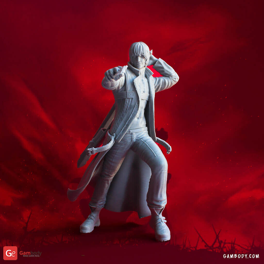Dante anime figurine for 3D printing