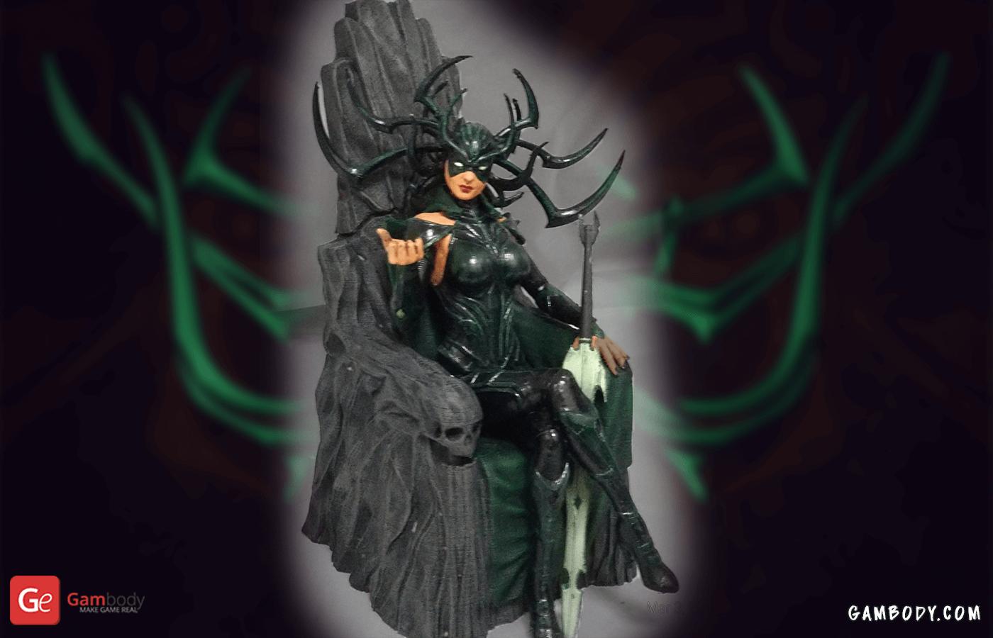 Hela on Throne 3D Printing Figurine