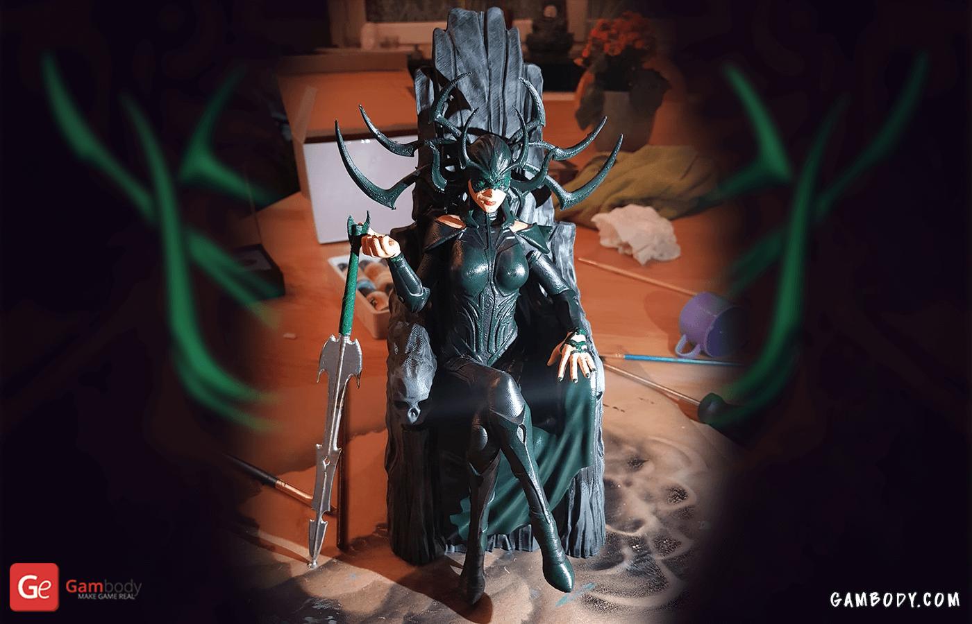 Hela on Throne 3D Printing Figurine Photo 3