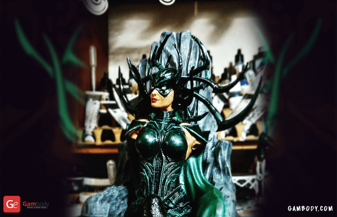 Hela on Throne 3D Printing Figurine Photo 2