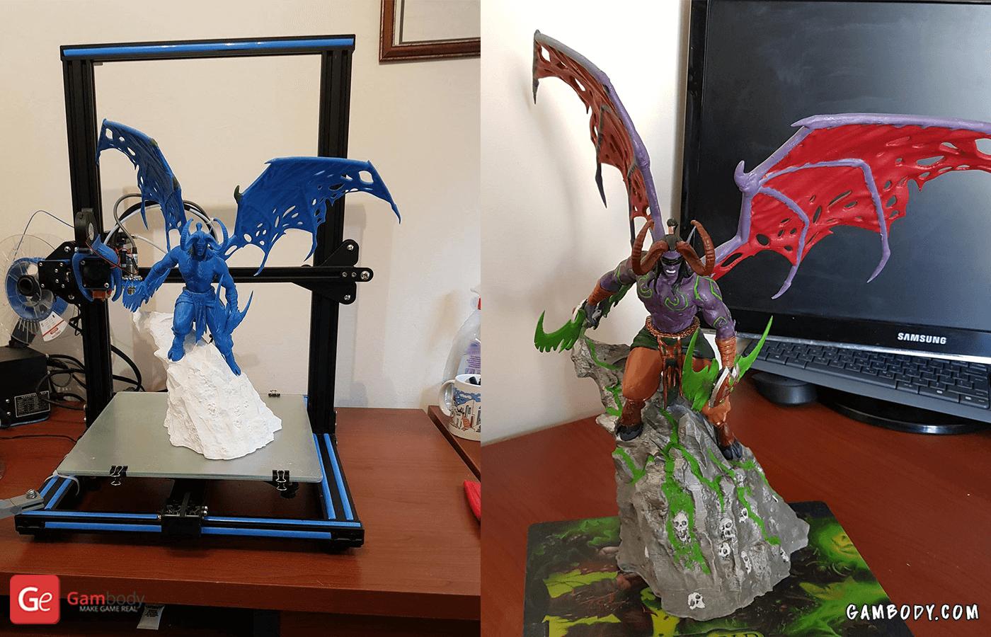Illidan 3D Printing Figurine