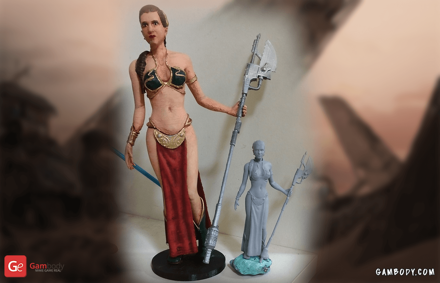 Princess Leia 3D Printing Figurine Photo 2