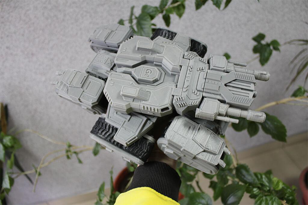 Siege Tank 3D Printing Figurine Photo 2