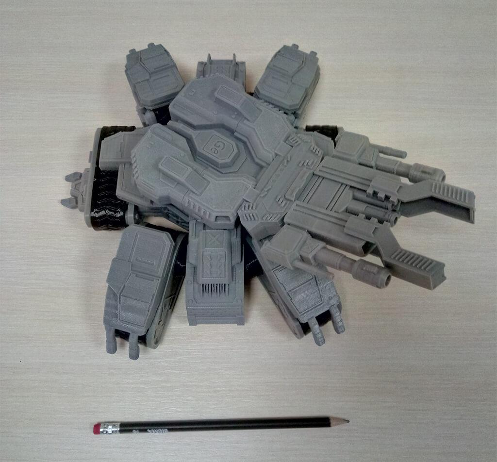 Siege Tank 3D Printing Figurine Photo 3