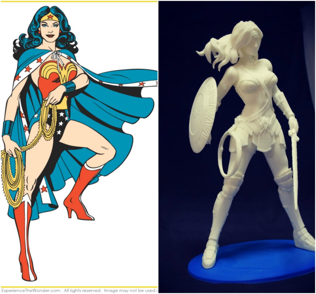 Wonder Woman DC Comics 3D printing