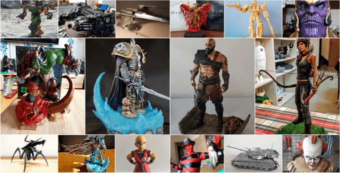 April 3D Printed Figurines Pick of the Month