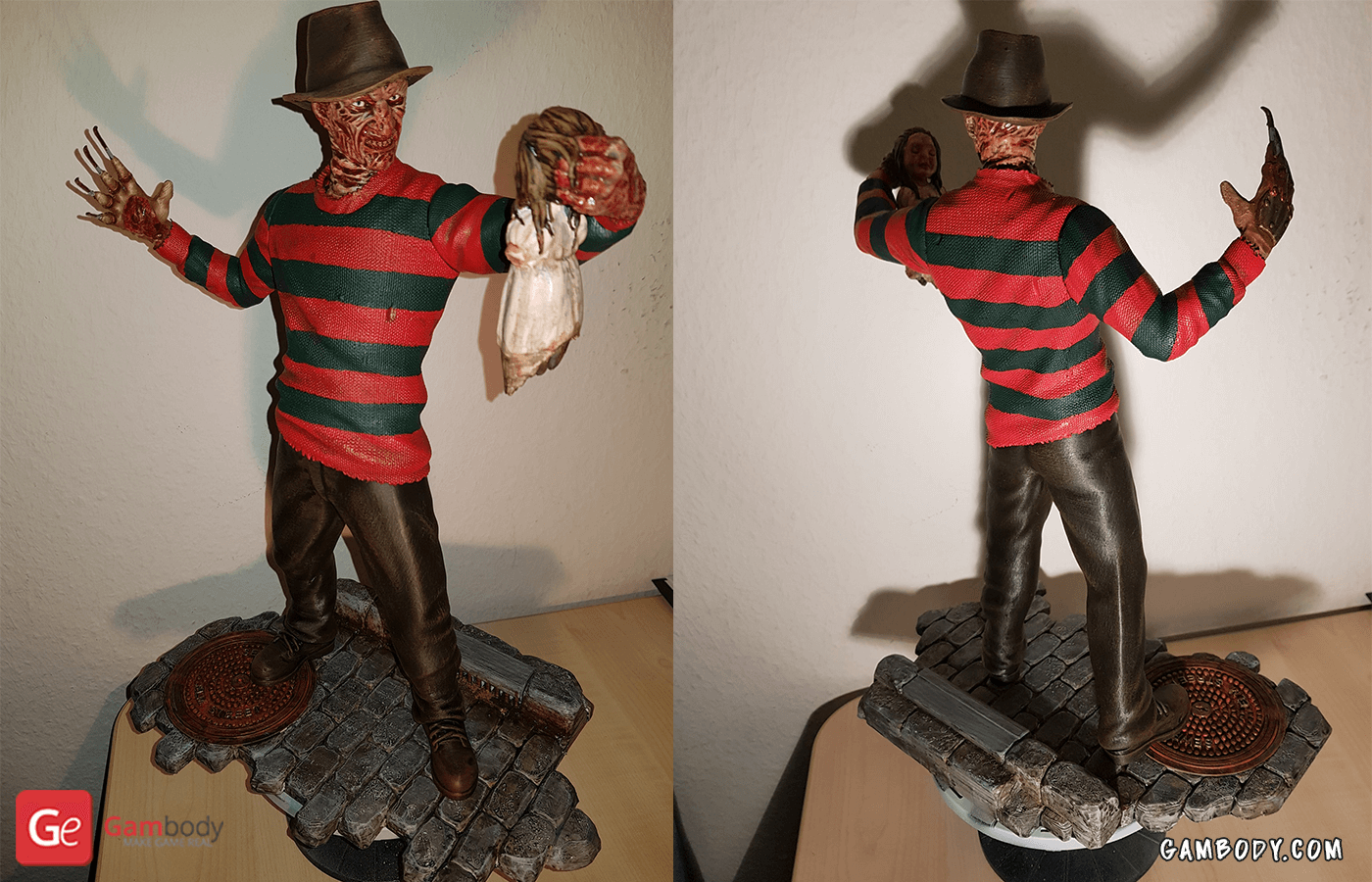 Freddy Krueger 3D Printing Figure Photo 2