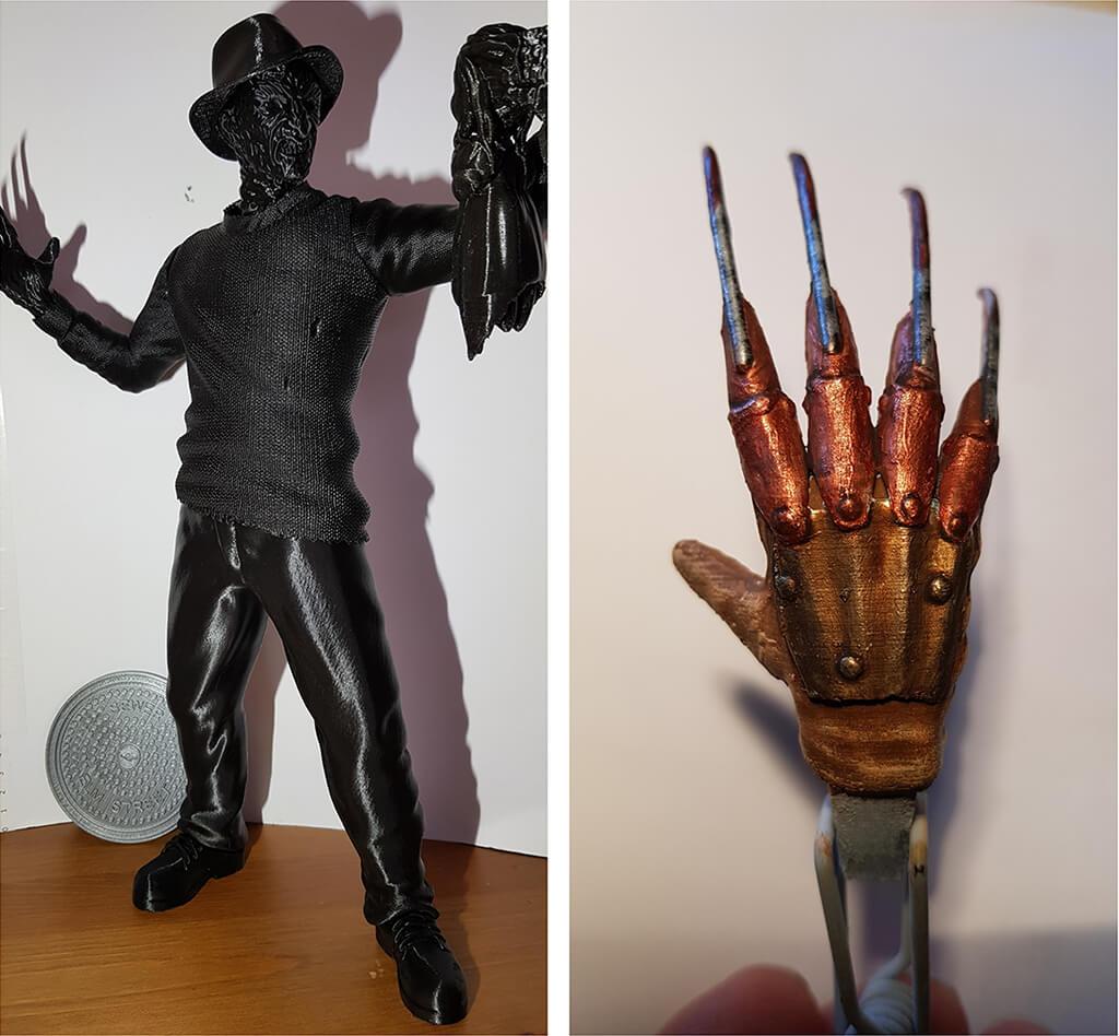 Freddy Krueger 3D Printing Figurine Photo 2