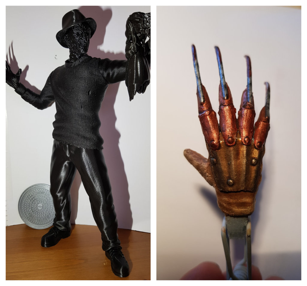 Freddy Krueger 3D Printing Figurine Photo 2