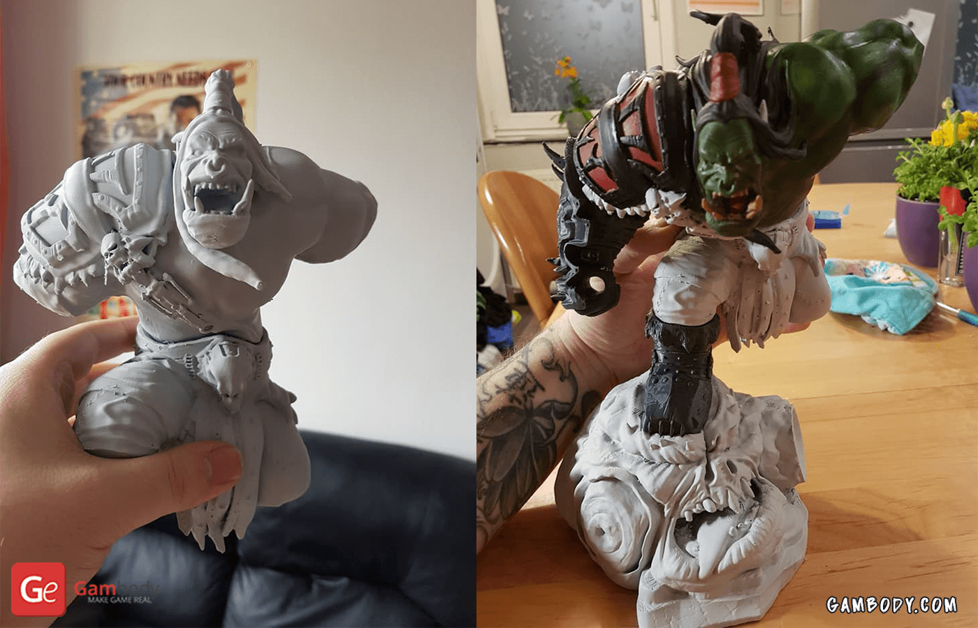 Grommash 3D Printing Figure Photo 2