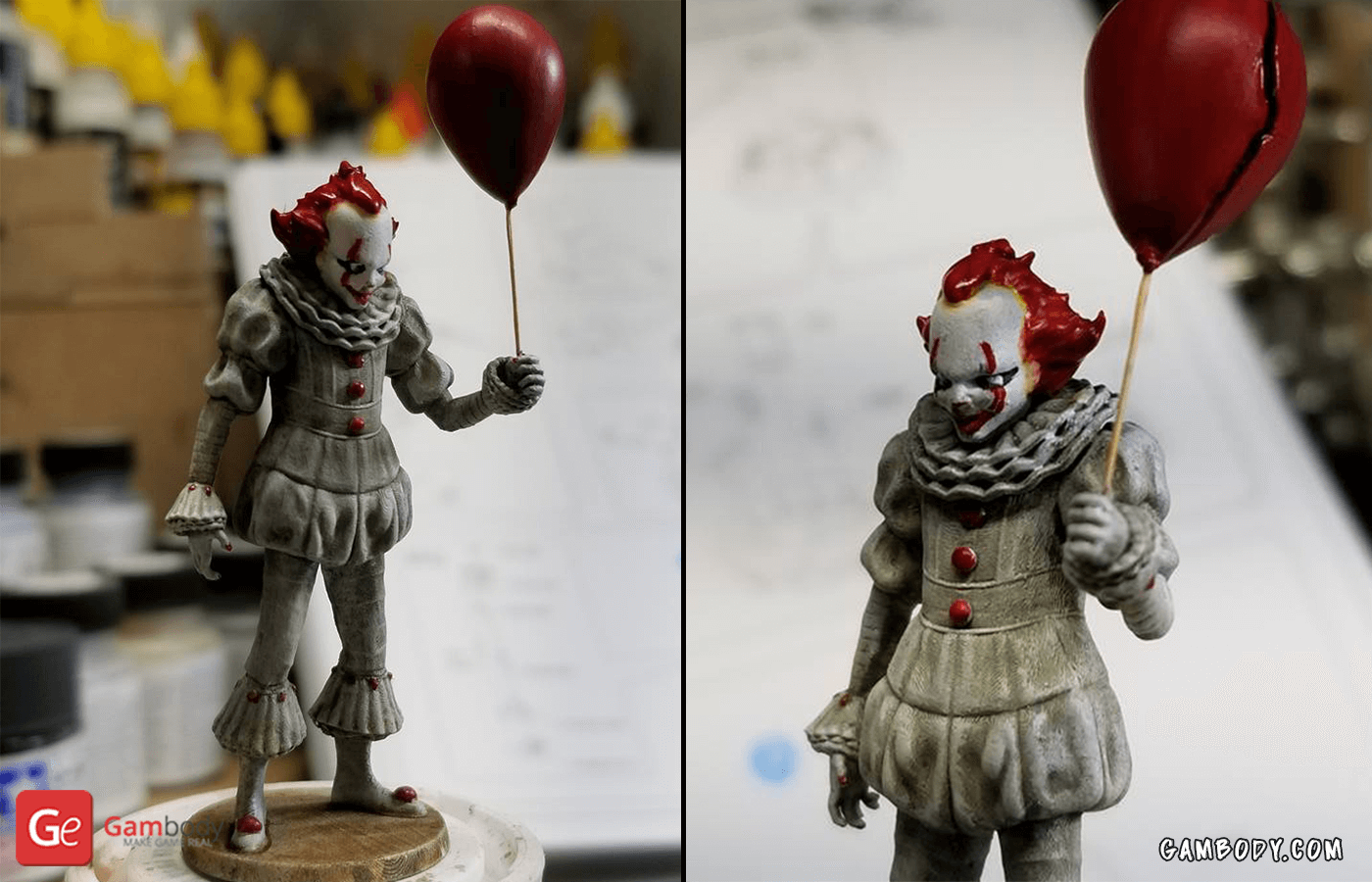 Pennywise 3D Printing Figure Photo 2