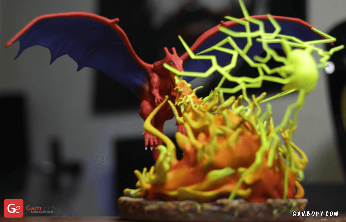 Pokemon, Charizard vs. Pikachu 3D printing Diorama Photo 2