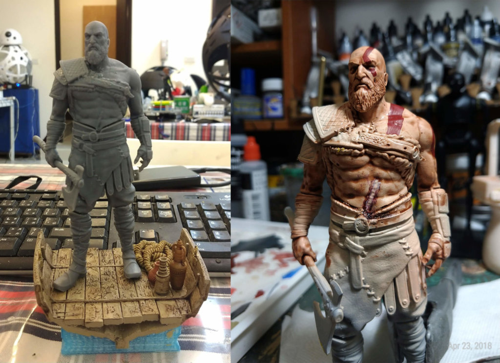 Old Kratos 3D Printing Figurine Photo 2