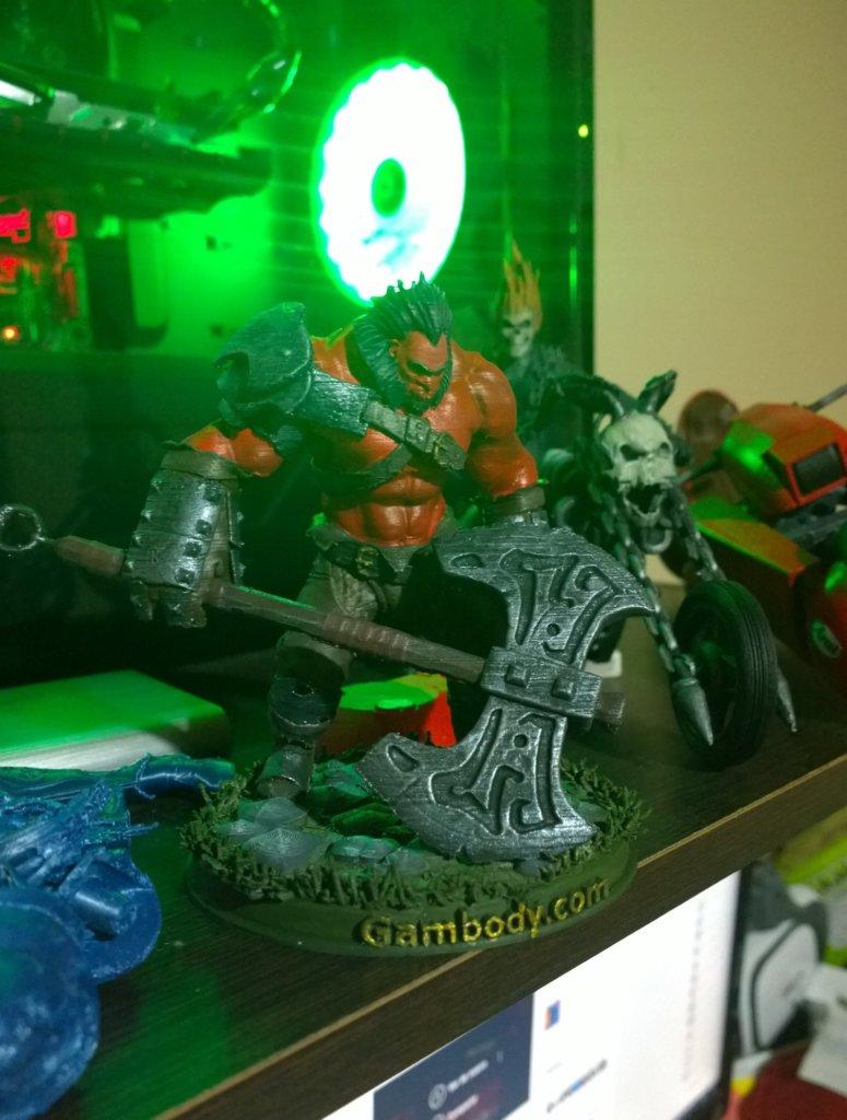 Axe 3D printing miniature