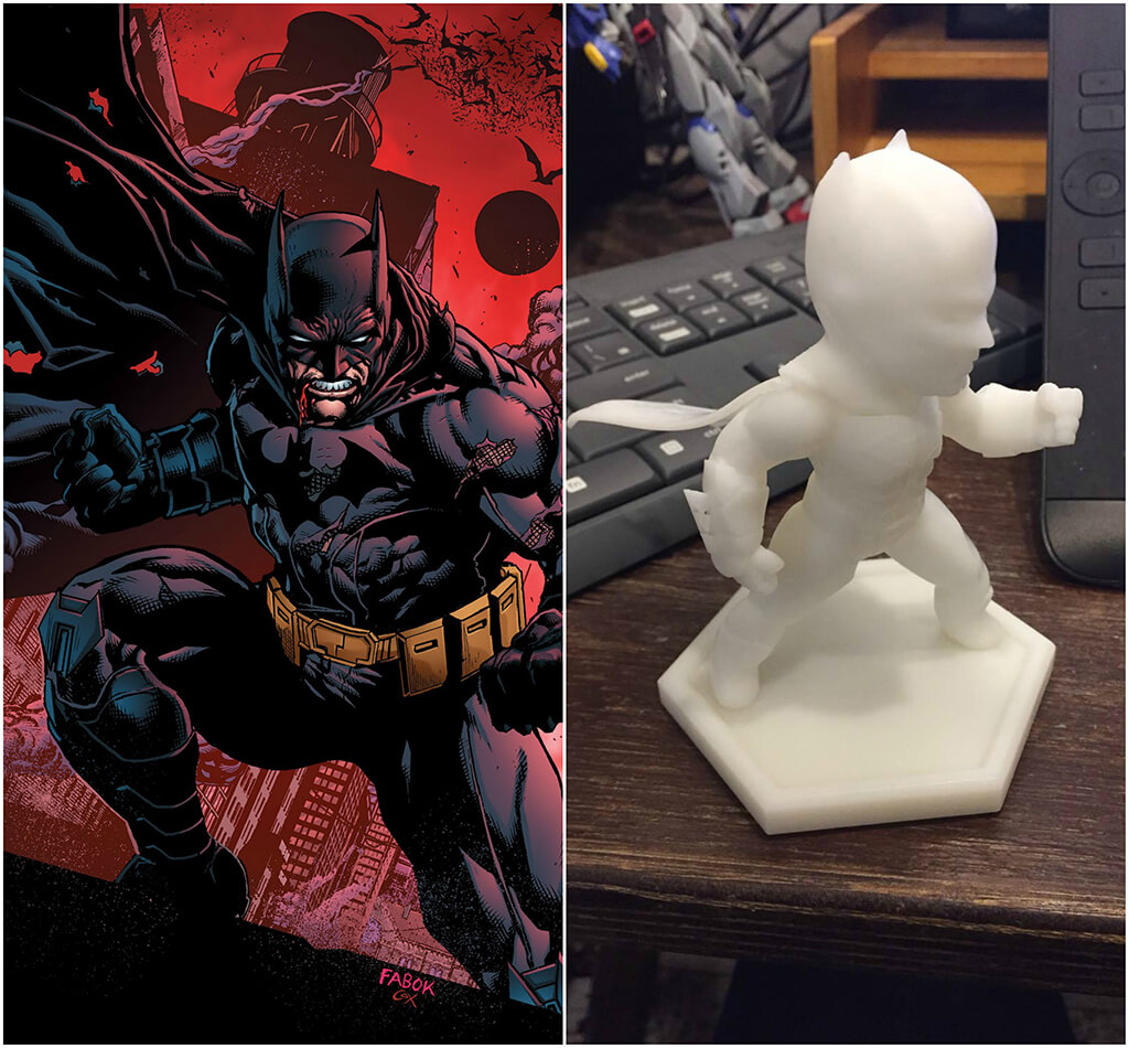 Batman DC Comics 3D printing miniatures
