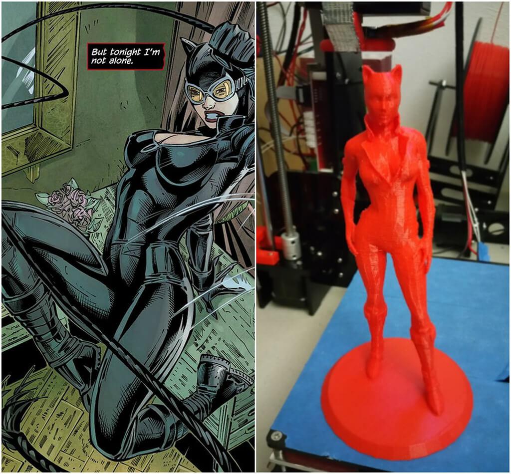 Catwoman DC Comics 3D printing miniatures