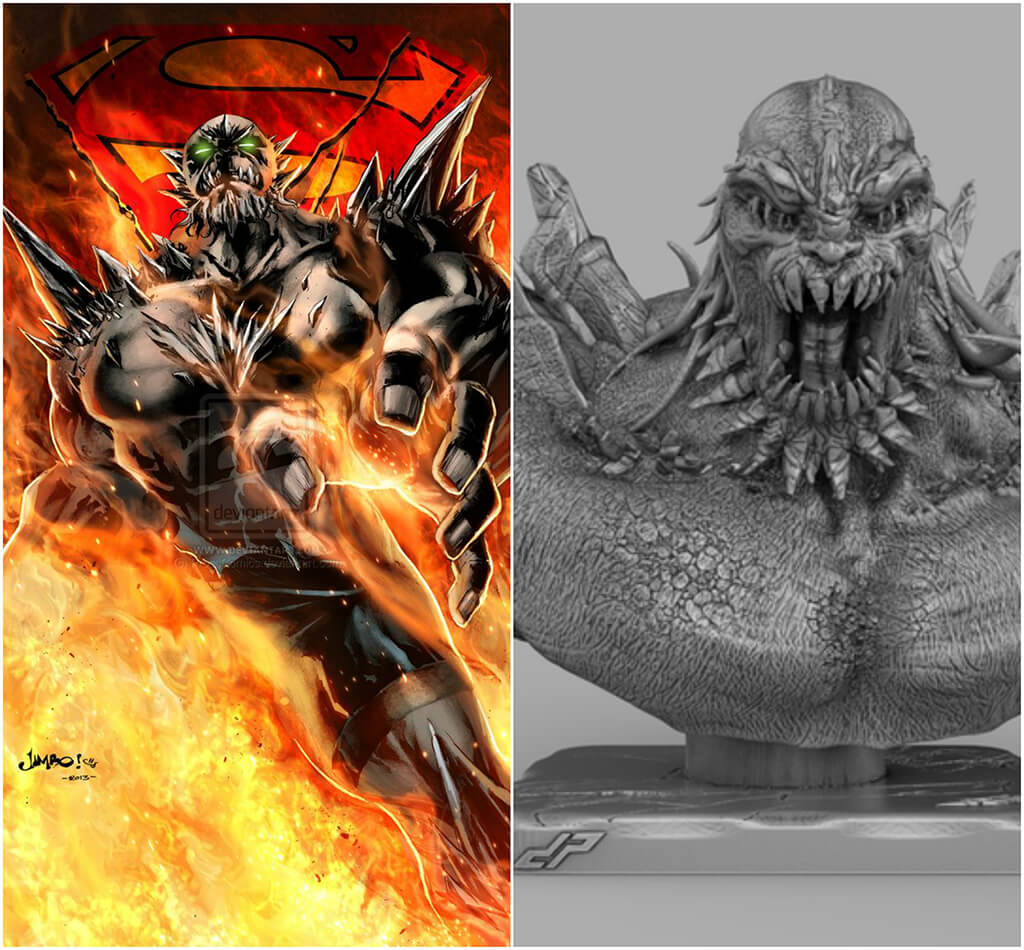 Doomsday DC Comics 3D printing miniatures