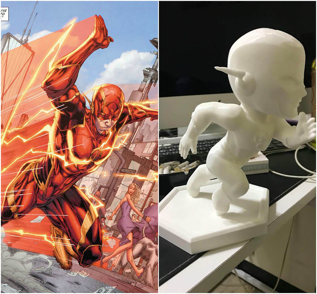 Flash DC Comics 3D printing miniatures