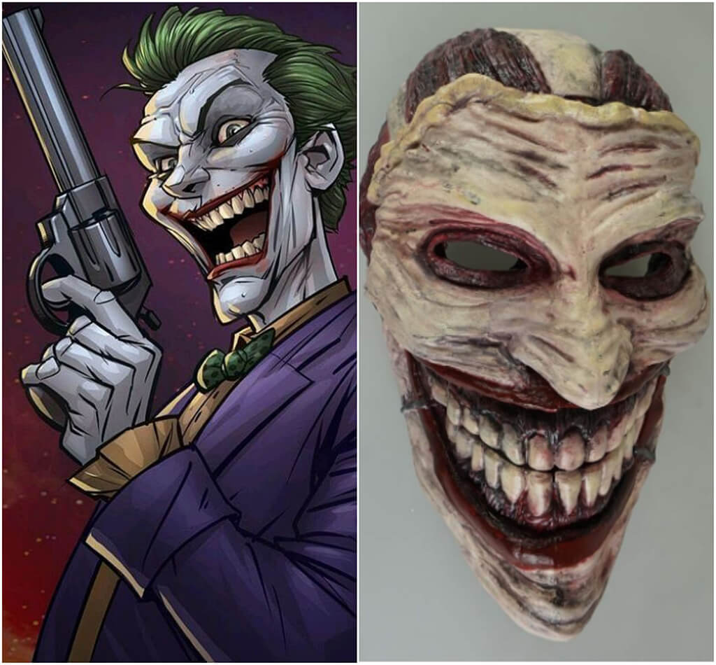 Joker DC Comics 3D printing miniatures mask