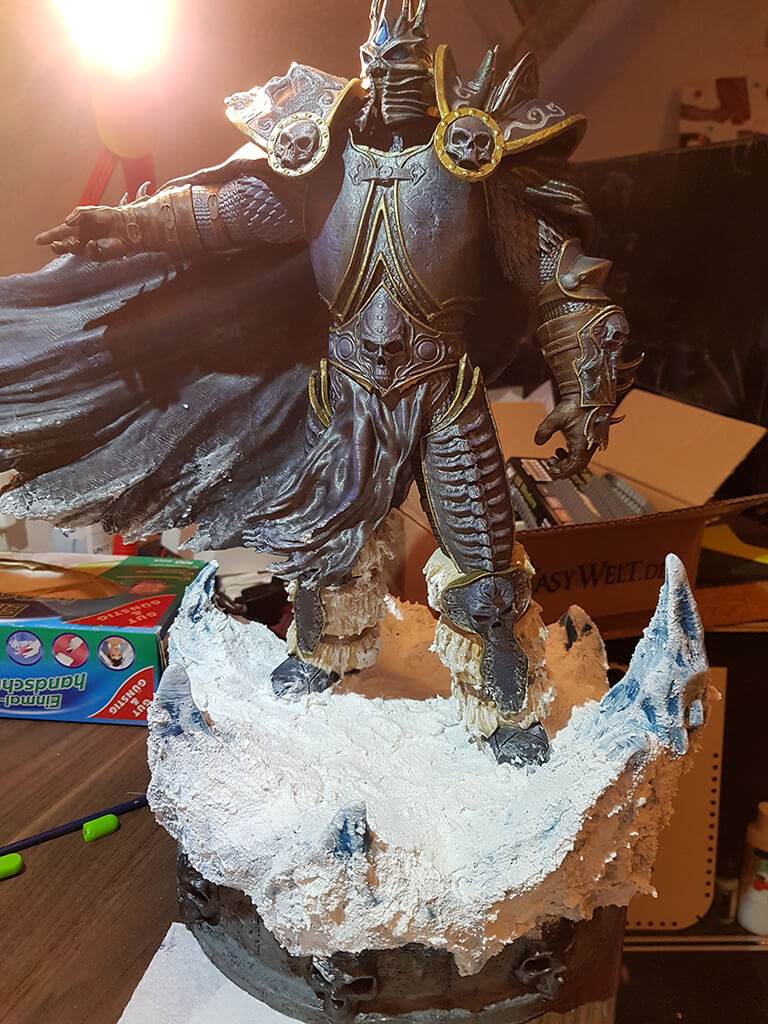 Lich King 3D printed Miniature Painting