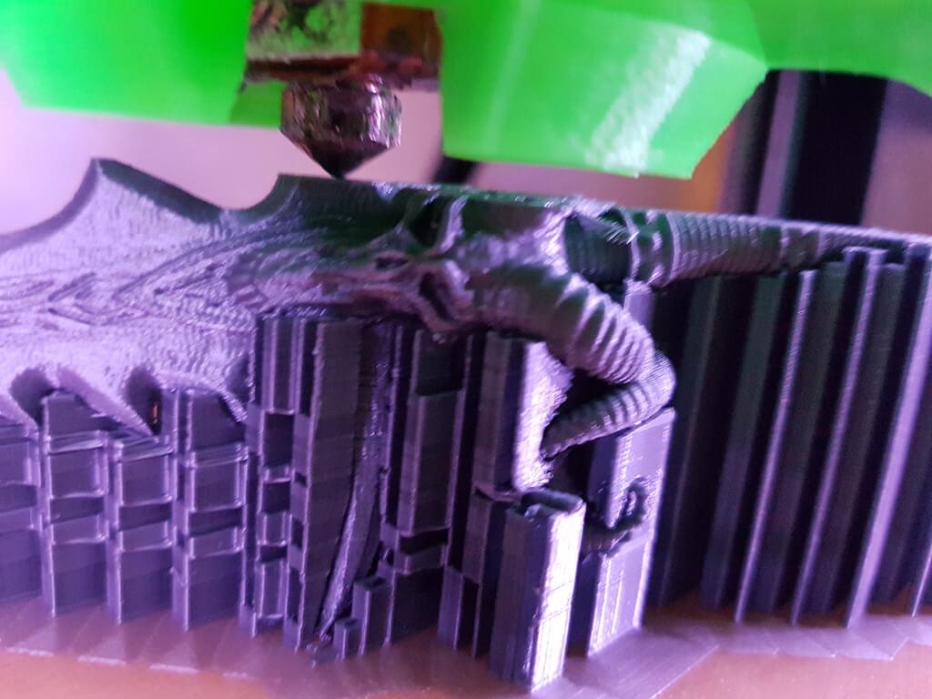3D printing process Lich King miniature