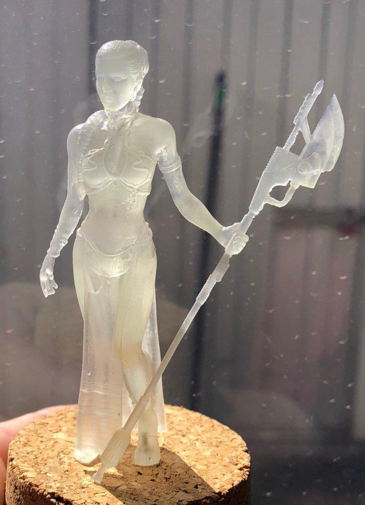 Princess Leia 3D printing miniatures